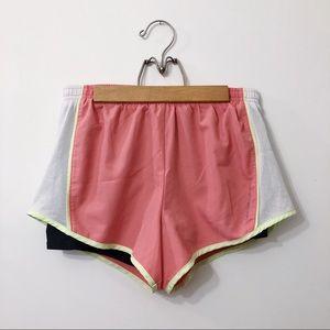 Calvin Klein Pink and White Gym Shorts